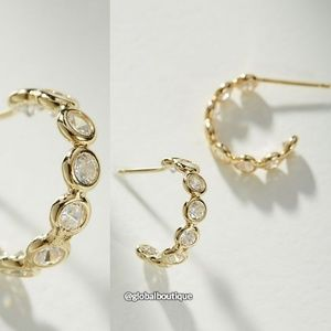 NWT ANTHROPOLOGIE Minuette Hoop Earrings